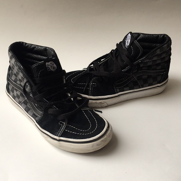 f3180a58f1da Vans sk8 hi top sneakers youth kids checker 3. M 5ab1a41546aa7c4103da9166